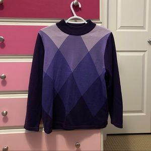 Allison Daley Purple triangle lavender sweater